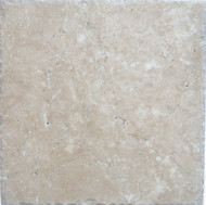 "Interceramic Mexican Travertine Crema Imperial Chiseled 16"" X 16"""