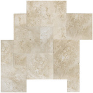 Interceramic Mexican Travertine Crema Imperial Versailles Pattern Honed/Filled