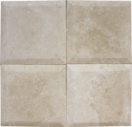 "Interceramic Mexican Travertine Crema Imperial Bisello Honed/Filled 6"" X 6"""