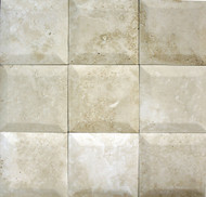 "Interceramic Mexican Travertine Crema Imperial Bisello Honed/Filled 4"" X 4"