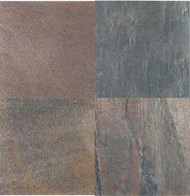 "Interceramic Tumbled Slate Copper Quartzite 4"" x 4"""