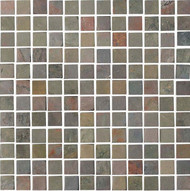 "Interceramic Tumbled Slate Primrose Mosaic 1""x 1"""