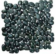 Interceramic River Rock Black Pearl Mosaic