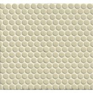 "Bedrosians Tilecrest 360 3/4"" Penny Rounds Off White Gloss"