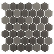 "Eleganza Tile Pure 2"" Hexagon Cappucino 11.66"" x 12"""