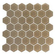 "Eleganza Tile Pure 2"" Hexagon Mocha 11.66"" x 12"""