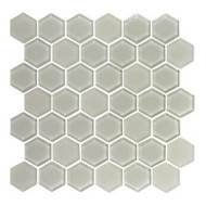 "Eleganza Tile Pure 2"" Hexagon Latte 11.66"" x 12"""