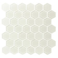 "Eleganza Tile Pure 2"" Hexagon Warm White 11.66"" x 12"""