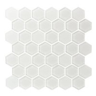 "Eleganza Tile Pure 2"" Hexagon Ice White 11.66"" x 12"""