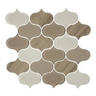 "Eleganza Tile Trend Earth Arabesque Water Jet Mosaic 11.5"" x 11.5"""