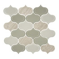 "Eleganza Tile Trend Forest Arabesque Water Jet Mosaic 11.5"" x 11.5"""