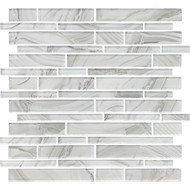 American Olean Refluence Glass White Cap Linear Mosaic
