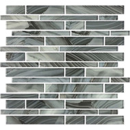 American Olean Refluence Glass Waterfall Linear Mosaic