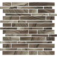 American Olean Refluence Glass Cavern Linear Mosaic