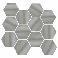 "Eleganza Tile Burlington Medium Grey 11.69""x 12.40"" Hex"