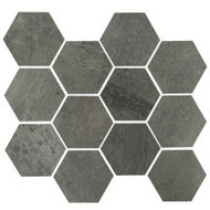 "Eleganza Tile Concrete Gun Powder 10"" x 11.50"" Matte Hex"