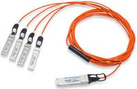 Breakout Twinax Cable 4x10Gb//s Passive 2M DAC FG-TRAN-QSFP-4XSFP-2-HPC Fortinet Compatible FG-TRAN-QSFP-4XSFP-2 40G QSFP to 4xSFP