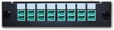 8 port, 16 Fiber LC Duplex Multi-mode Adapter Plate