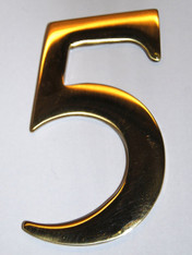 "3"" Williamsburg Brass Number #5"