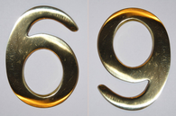 "3"" Williamsburg Brass Number #6 or #9"