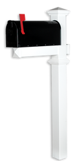 The Winthrop White Vinyl /PVC Mailbox Post - White (Includes Mailbox)