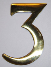 "3"" Williamsburg Brass Number #3"