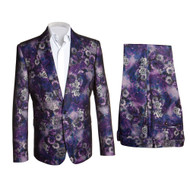 PURPLE FLORAL SUIT