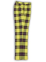 Plaid Yellow Burgundy Big Check Pants