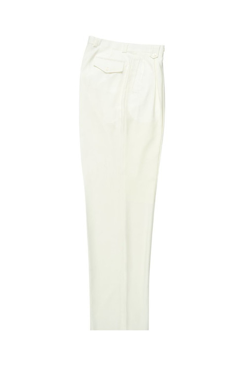 Offwhite Wide Leg Wool Dress Pant 2586/2576 by Tiglio Luxe