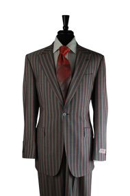 Tiglio Gray Bold Red Pinstripe 3 Piece Suit (RS5461/9)