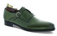 Emilio Franco Olive-Cognac Double Monk-Strap Shoes (203-OLIVE)