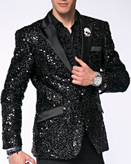 Travis Alexander Bespoke Black Sequence Jacket