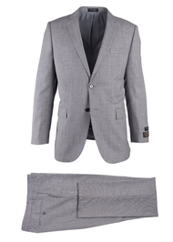 TIGLIO LIGHT GRAY BIRDSEYE NOVELLO MODERN FIT LUXE SUIT