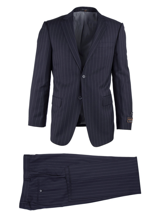 TIGLIO LIGHT BLACK PINSTRIPE NOVELLO MODERN FIT LUXE SUIT