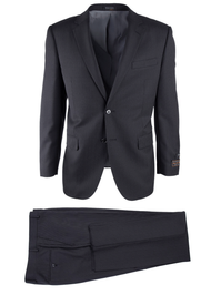 TIGLIO BLACK MINI STRIPE NOVELLO MODERN FIT LUXE SUIT