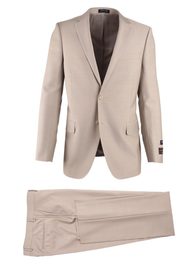 TIGLIO TAN HERRINGBONE NOVELLO MODERN FIT LUXE SUIT
