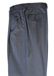 Tiglio Blue Checkered Wide Leg Pants/Slacks (TS5229/3)