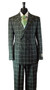 Rossi Man Dark Green Double Breasted Windowpane Suit (ARTHUR-RM678)