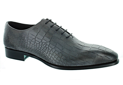 Emilio Franco Grey Croc Pantina Shoes (B16176-GREY)