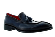 Encore Black Midnight Blue Tassle Loafer (FI8701-BLACK)
