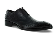 Jo Ghost Black Python Cap Toe Leather Uomo Diver