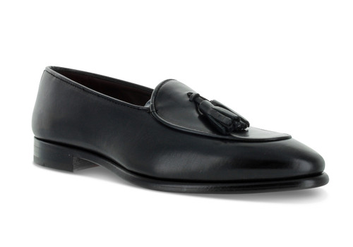 Emilio Franco Black Tassle Loafer Shoes