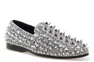 Lord Silver Spike Slip-on Loafer
