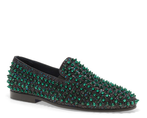 Luxor Green Studs Slip-on Loafer (LUXOR-GREEN)