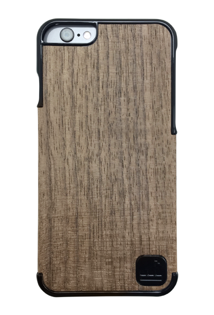 LuxBox Case Chosen Black for iPhone 6 & iPhone 6S with real walnut wood veneer