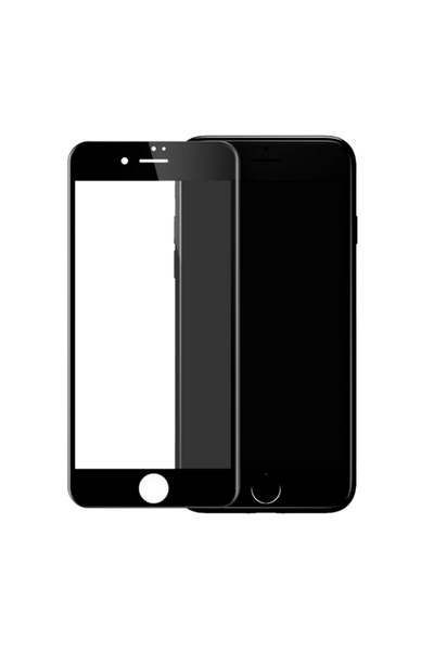 theWTFactory ScreenGuard for iPhone 7 - BLACK Contoured screen cover that is contoured the the curved edge of the iPhone screen
