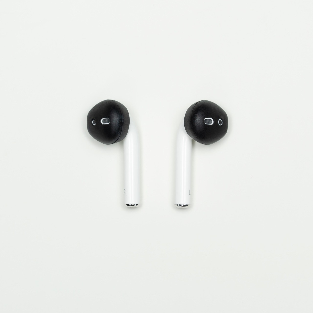 AirPods & Apple Earbuds Skins | SPACE (BLACK)   * AERZ is a simple comfortable AirPod and Apple Earbud 2.0 solution that improves the sound quality and comfort of your Apple AirPods and Apple Earbud 2.0     * Soft high quality silicone cover skins improve the comfort of Apple AirPods and Apple Earbuds 2.0 allowing you to wear your AirPods or Earbuds for hours on end without discomfort     * AERZ dramatically improves the audio quality of Apple AirPods and Apple Earbuds 2.0 by air sealing AirPods and Earbuds to prevent the escape of sound waves; thereby dramatically improving audio quality * Ultra-thin but Durable: AERZ Don't make your AirPods or earbuds too big for your ear canals.  It's the soft silicone surface that seals the audio quality in and makes your AirPods and Earbuds ultra comfortable
