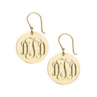 Gold Plated  Interlocking Monogram