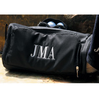 Black Classic Block Monogram First, Middle , & Last Initials for Men Nylon fabric with extra pockets