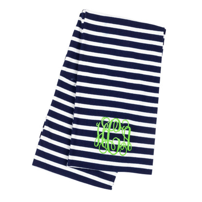 Navy  Stripe Interlocking Monogram